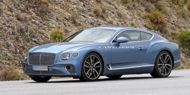 Гибридный Bentley Continental засветился первыми фото на тестах