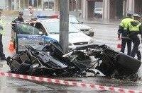 В столб на Porsche по дождливой Москве