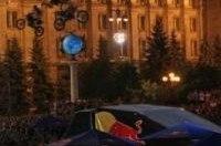 На Крещатике замечены летающие мотоциклы