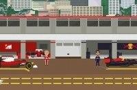 Обзор сезона Формулы-1 показали в виде 8-битной видеоигры