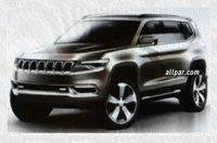 В сети рассекречены эскизы нового внедорожника Jeep K8 Hybrid Concept