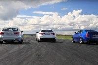 Alfa Romeo Giulia QV, BMW M3 и Cadillac ATS-V сравнили в дрэге