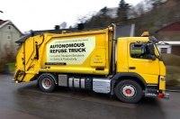 Компания Volvo приступила к испытаниям беспилотного мусоровоза