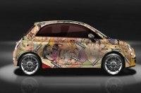 Кузов Fiat 500 покрыли иллюстрациями из «Камасутры»