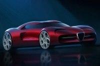 Независимый рендер нового суперкара Alfa Romeo