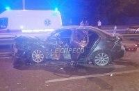 Ночная погоня полиции за «литовским» BMW: Prius вдребезги