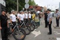 В Одессе полицейских пересадили на крутые велосипеды