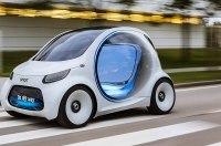 Представлен городской электрокар Smart без руля и педалей