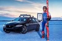 «Ягуар» разгоняет лыжника до 190 километров в час
