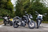 Три мотоцикла Triumph Street Triple