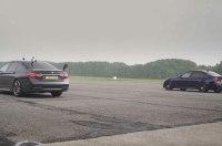 Самый быстрый седан BMW 7 сразился с BMW M3