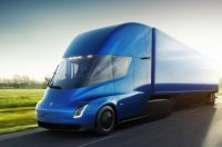 Разгон футуристического грузовика Tesla показали на видео