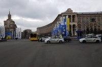 Столичная полиция перекрыла движение на Крещатике из-за столкновений на Европейской площади