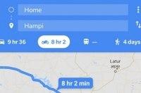 Google Maps добавил режим для мотоциклистов