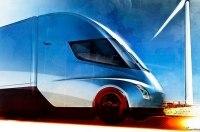 Шеф-дизайнер Tesla показал ранний набросок электрической фуры