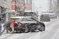 Киев замер из-за большого количества аварий и работ дорожных служб