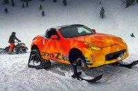 Nissan построил гусеничный родстер 370Zki