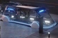 Маск показал концепт подземного автобуса, набирающего 200 км/ч
