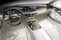 Показан интерьер самого роскошного седана Kia