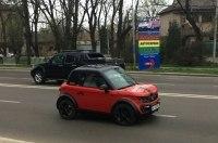 В Украине засняли экзотический электромобиль Tazzari Zero