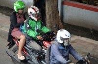 Мототаксисты Индонезии вышли на акцию протеста