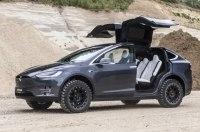 Tesla Model X подготовили для бездорожья
