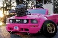 «Барби-Мустанг» оснастили мотором от мотоцикла