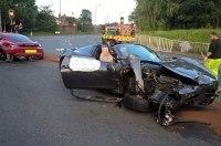 Водители Porsche и Ferrari полностью разбили свои авто и убежали с места ДТП