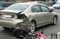 В Киеве тяжело травмировался мотоциклист