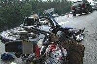 Под Киевом мопед врезался в Audi, водителя госпитализировали