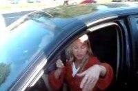 Пьяная российская девушка за рулем в Белоруссии