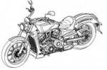 Polaris зарегистрировали дизайн мотоцикла с двигателем жидкостного охлаждения