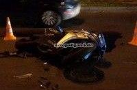 ДТП в Киеве: на Борщаговской, вылетев с дороги, насмерть разбился мотоциклист на Honda