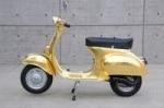 Золотой скутер Vespa Polini Gold 23