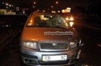 ДТП в Киеве: на Броварском проспекте Skoda Fabia сбил пешехода-нарушителя насмерть