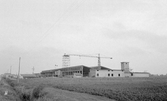 Строительство завода Lamborghini в Сант-Агата-Болоньезе, 1963 год