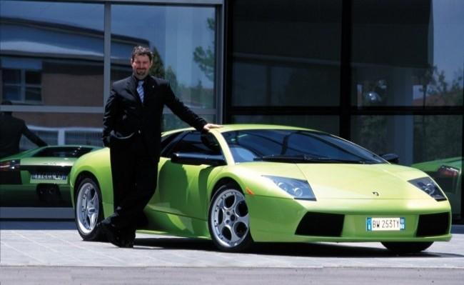 Lamborghini Murcielago и Люк Донкервольке, 2001 год