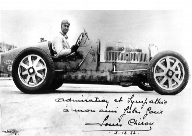 Луи Широн за рулем Bugatti Type 51, 1932 год