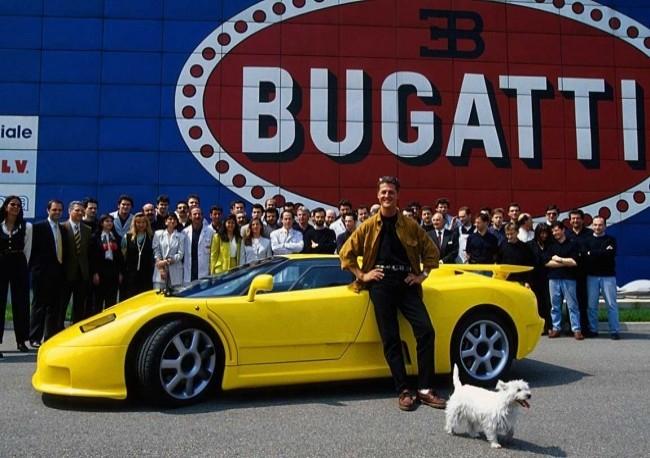Bugatti EB 110 SS и Михаэль Шумахер, Кампогалльяно 1994 год