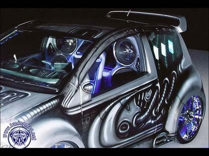"Alien Citroen C2: инопланетянин от ""SQ Plus"""