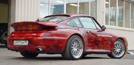 Фактурная аэрография на Porsche