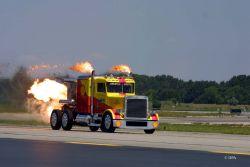 Peterbilt ShockWave Semi Jet Truck: Самый быстрый дальнобойщик