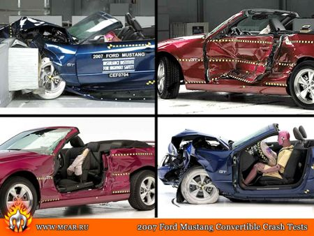 2007 Ford Mustang GT Convertible Crash Tests