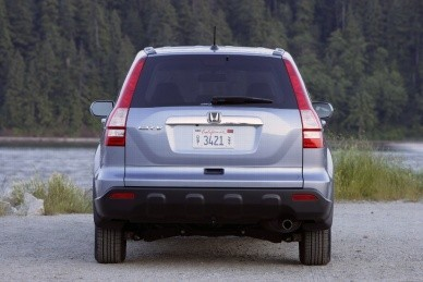 третье поколение CR-V лишилось колеса на багажнике