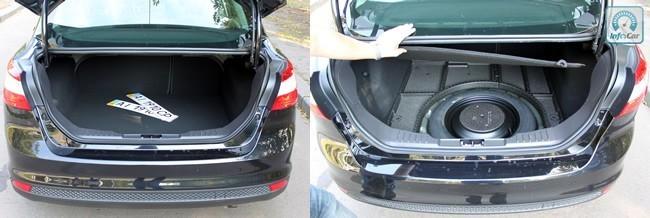 Проем багажника узковат и с размещением в нем большого чемодана могут возникнуть проблемы