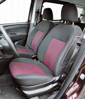 Передние сиденья Fiat не радуют боковой поддержкой. Кроме того, у него отсутствует регулировка высоты кресла.