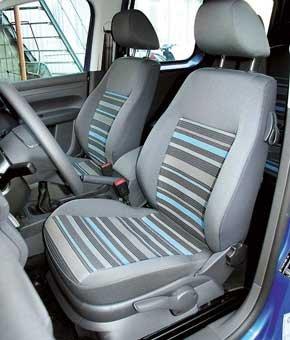 Если нужно положить, например, сумку, спинку водительского сиденья Сaddy можно откинуть. Регулировка высоты кресла  опция.
