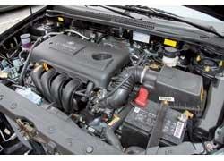 1,8-литровый 16-клапанный мотор оснащен системой регулировки фаз газораспределения CVVT.