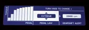 Extreme: наивысшая чувствительность педали; позволяет достичь максимального ускорения на сухом асфальте.
