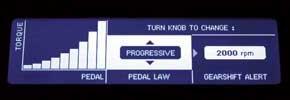 Progressive: отклики на открытие дросселя менее резкие; режим предназначен для езды в дождь.